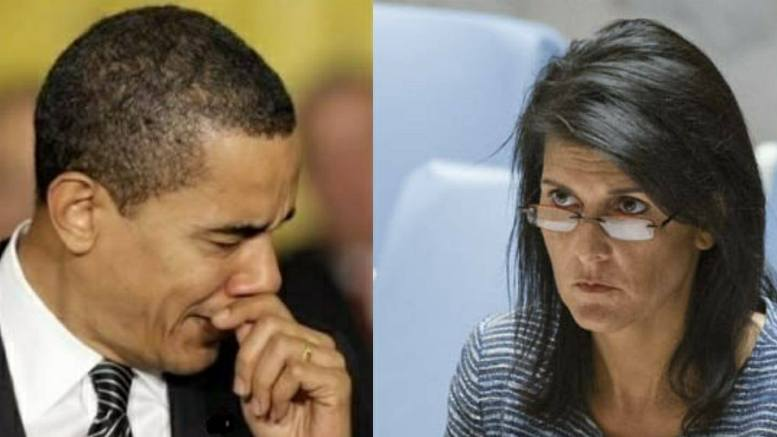 (Feature Photo Dagger News Screen Capture. Nikki Haley and Obama. United Nations)