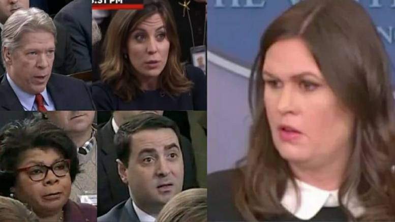 (Feature Photo credit to screen capture and Dagger News. Sarah Sanders vs. the Media)