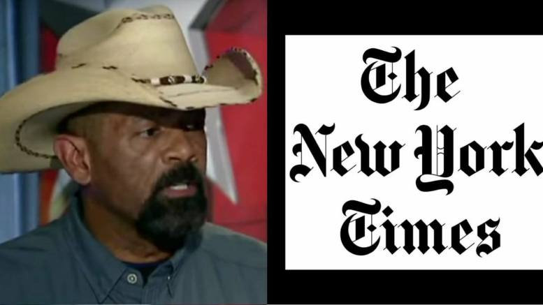 (Feature Photo by screen capture Dagger News. Sheriff Clarke takes on the failing New York Times.)