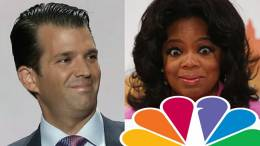Feature photo credit to NBC and Dagger News compilation. Don Jr. puts NBC on blast mode after politically biased tweet for Oprah.