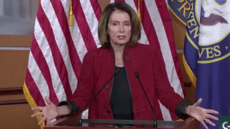 """Feature photo credit to screen capture by Dagger News. Nancy Pelosi refers to generous bonuses and raises for the middle class as """"crumbs"""" and """"pathetic."""""""