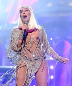 Cher, at age 71 dressed in her finest for the 2017 Billboard Music Awards. No thanks. Phot credit to Metro UK.