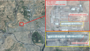 Photos courtesy of The Diplomat. Close-up imagery analysis of the impact point at Tokchon. Source: Google Earth