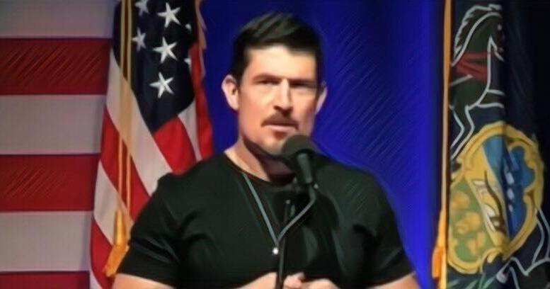 "Kris ""Tanto"" Paronto defends fellow OIG Veteran in epic twitter slam down by getting to the bottom of the liberal agenda! Photo credit to Dagger News and picsart. Scranton, PA Trump rally."