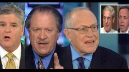 Dershowitz vs diGenova Showdown on the Hannity show! Dagger News compilation of Mueller Speech Screen Shot/Rosenstein Interview Screen Shot/Fox Screen Shots.
