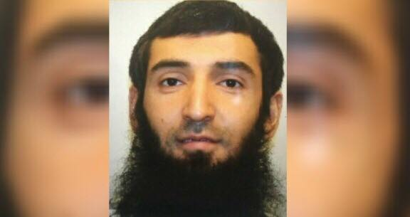 Sayfullo Saipov walks into court and defends Allah. Image credit to Dagger News with ABC News screen capture enhancement.