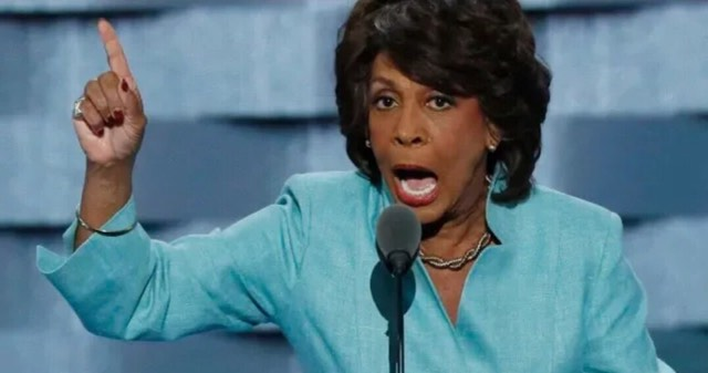 Maxine Waters has resolution placed on her violent rhetoric in House last night. Image credit to US4Trump with screen capture enhancement.