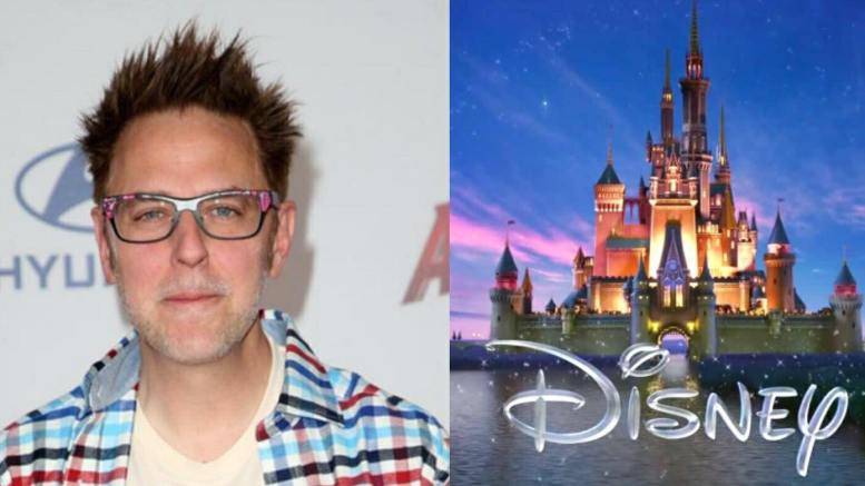 Filmmaker James Gunn attacks conservatives and has a history. Photo credit to Dagger News enhancements with (L) Contact Music (R) Disney.