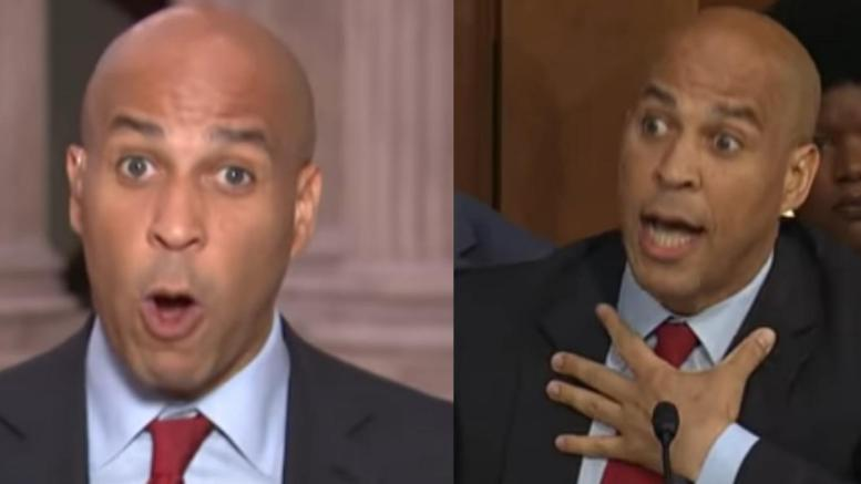 Cory Booker has old sexual misconduct allegations. Photo credit to Dagger News compilation with screen captures.