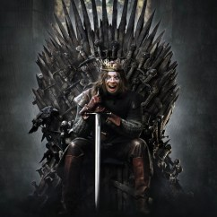 Game Of Throne Chair Velvet Desk Sit On The Iron With Thrones Face Montage