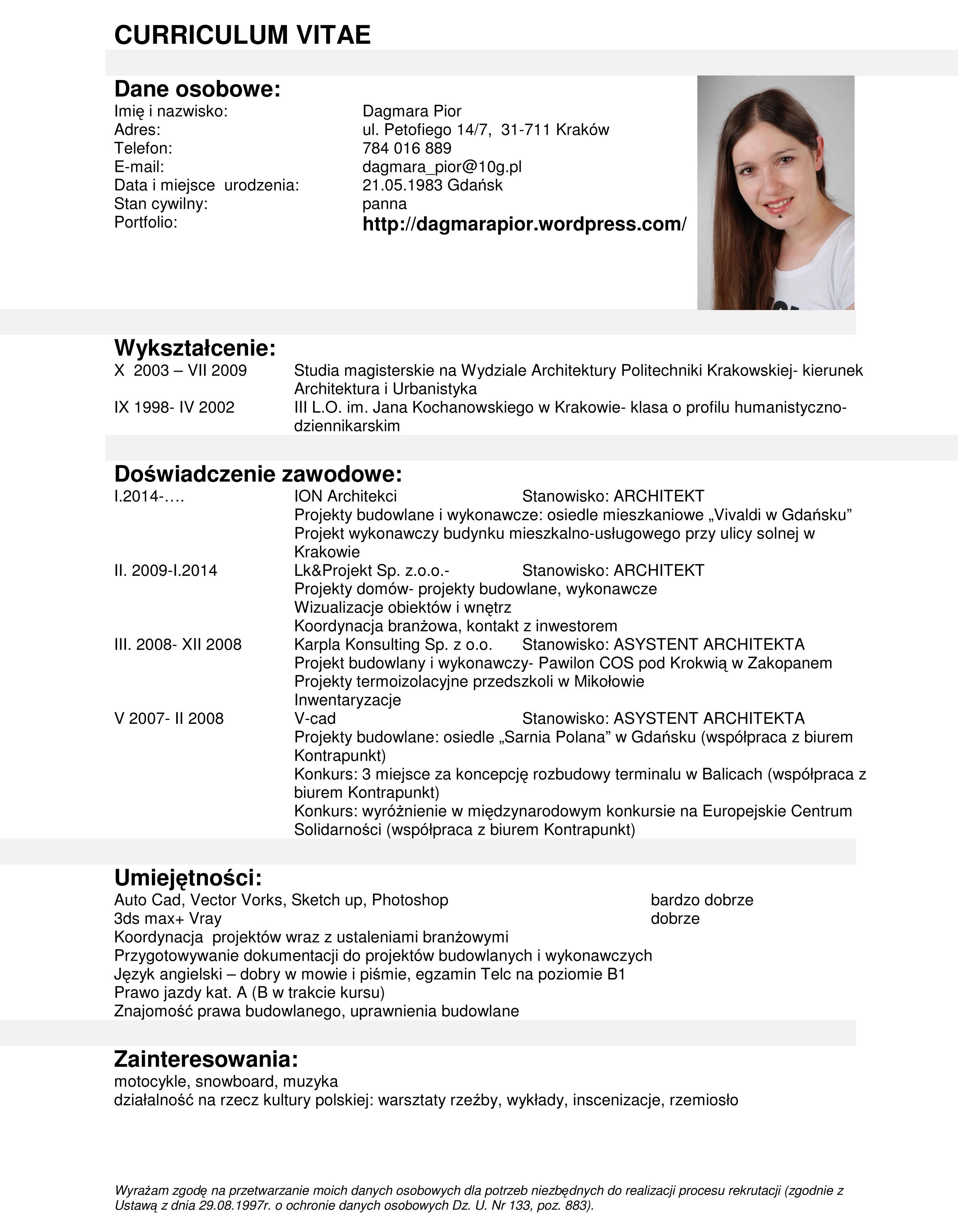 CV Dagmara Pior
