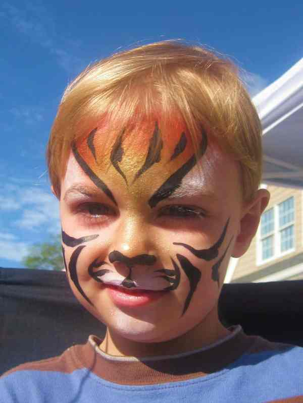Wordless Wednesday Landon' Face Painting