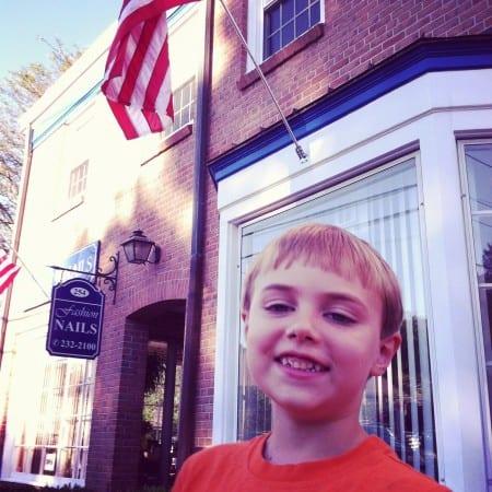 little boy remembering 9/11