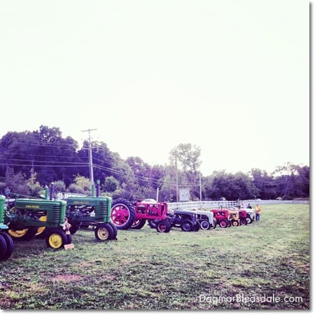 antique tractors at Tilly Foster Farm Museum in Putnam County, Brewster, NY