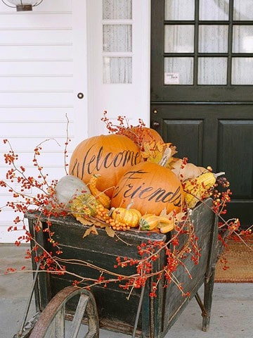 easy DIY fall decor with pumpkins