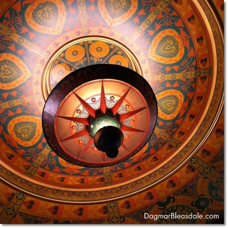 colorful ceiling of the Al Hirschfeld Theatre