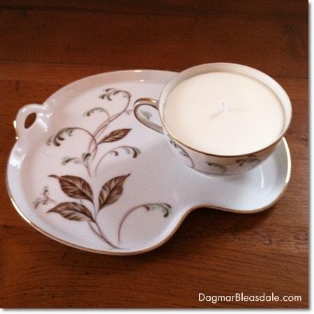 Dagmar's Home Decor handmade soy wax candle in teacup