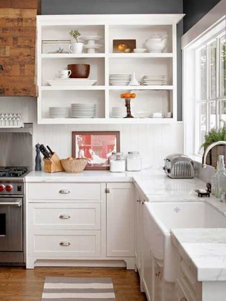 open shelving kitchen My Dream Home: 10 Open Shelving Ideas For The Kitchen