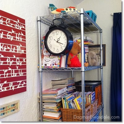 Trinity wire rack used in kids play room for toy and book storage