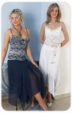Patrycja, koronkowa top & spódnica, niebieska lub biała