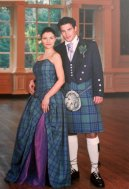 Tartanowa suknia ślubna Syntia