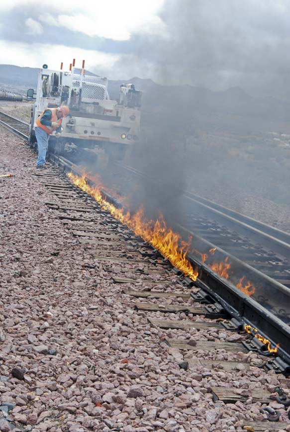 burn rope being used to expand track