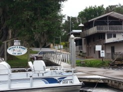 Bryant's Wharf, Welaka. They give free short term docking and the hot shower is just up the hill
