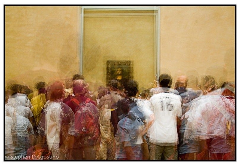 Example of Photo Impressionism - In Front of Mona Lisa