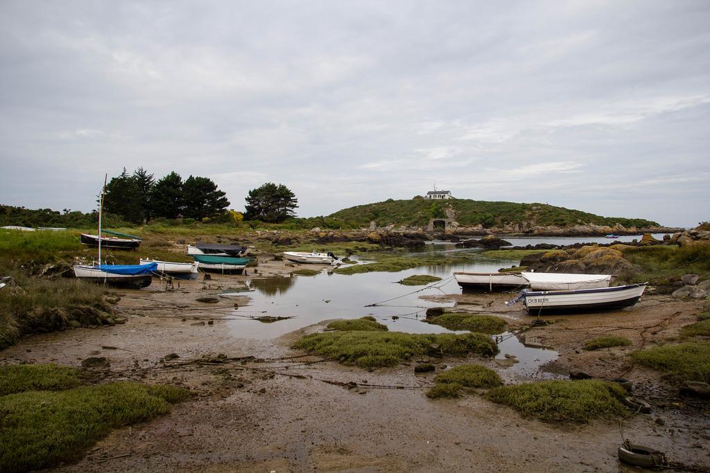 Bateaux à marée basse.