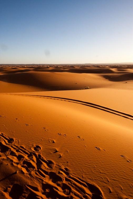 L'infinité du désert, des dunes à perte de vue !