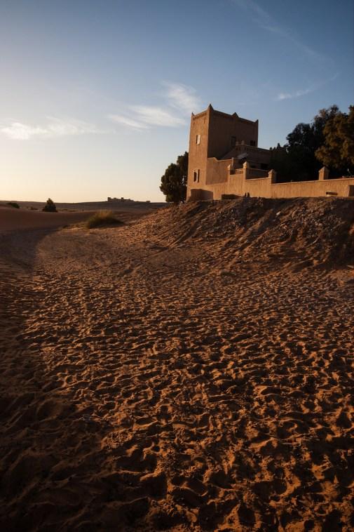Aux portes des dunes du Sahara.