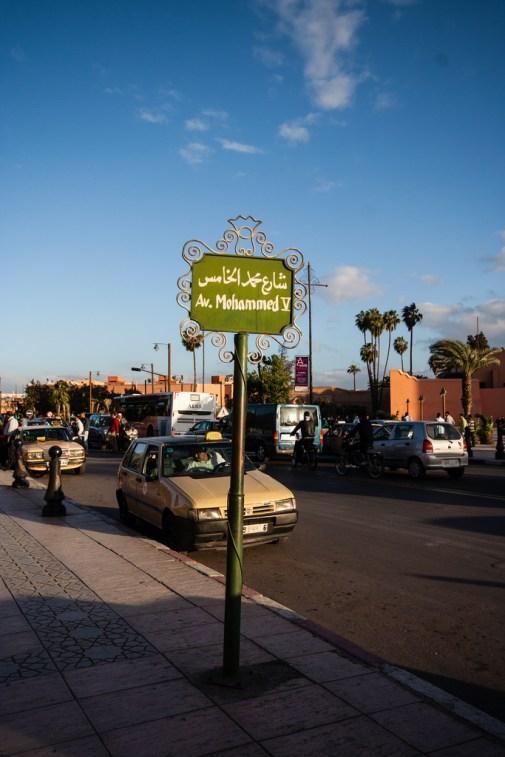 Avenue Mohammed V à Marrakech