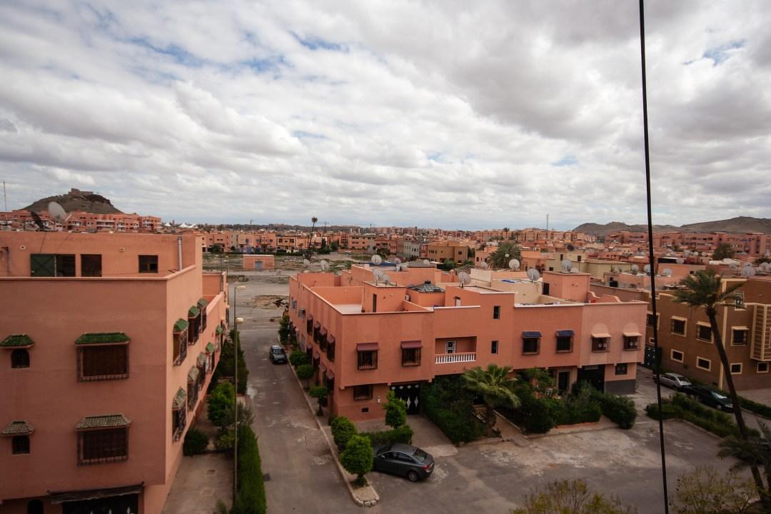 Vue des toits de Marrakech.