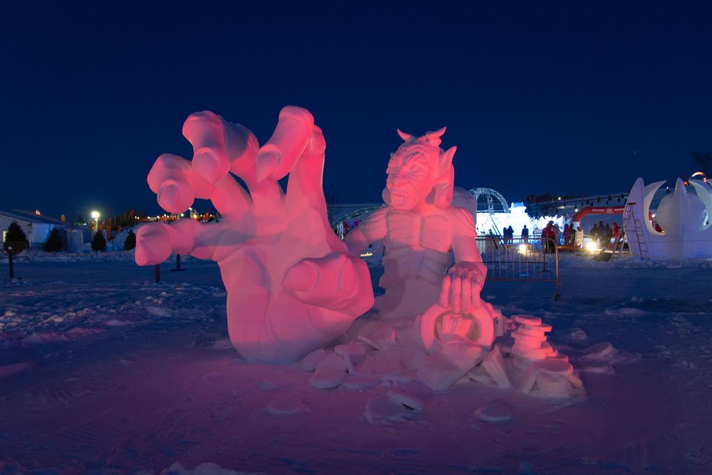 Sculpture sur neige, Carnaval de Québec.