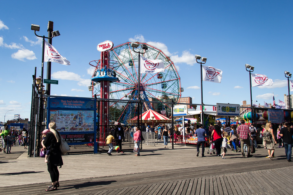 Luna Park, attractions à Coney Island.
