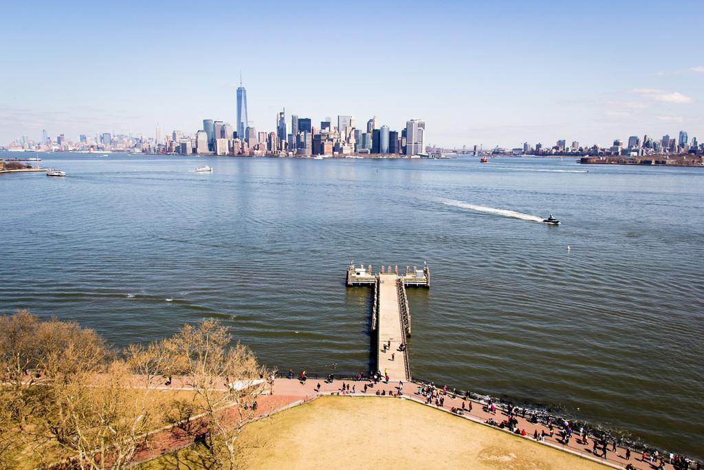 NYC vue de la Statue de la Liberté.