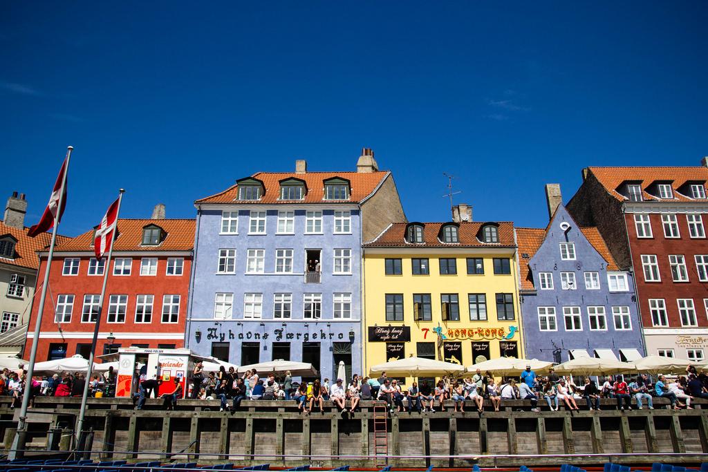 Maisons colorées du port de Copenhague.