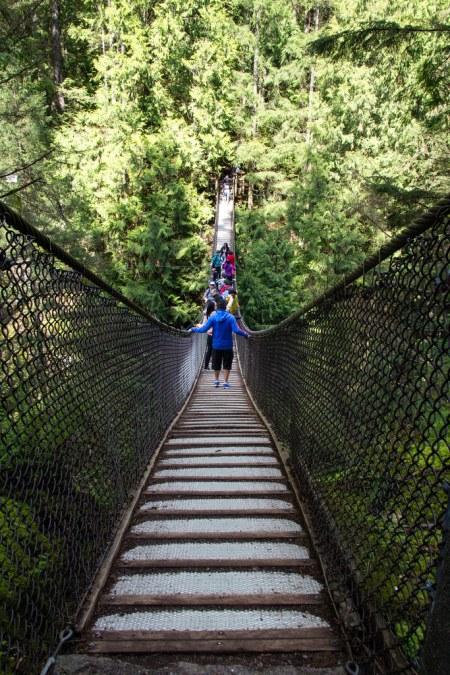 Pont suspendu de Lynn Canyon Park.