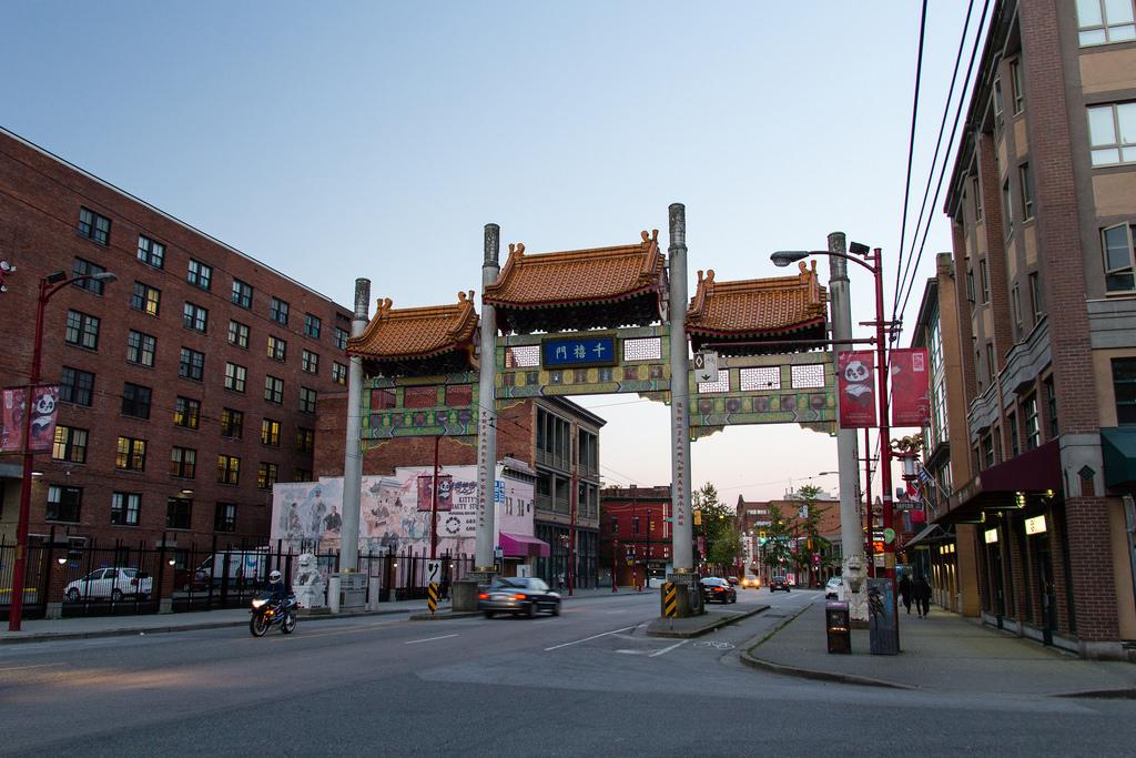 Porte à China Town de Vancouver.