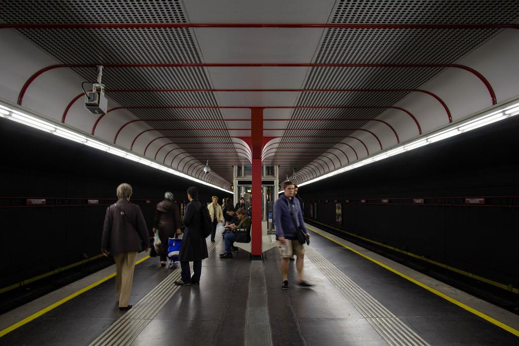 Dans une station du métro viennois