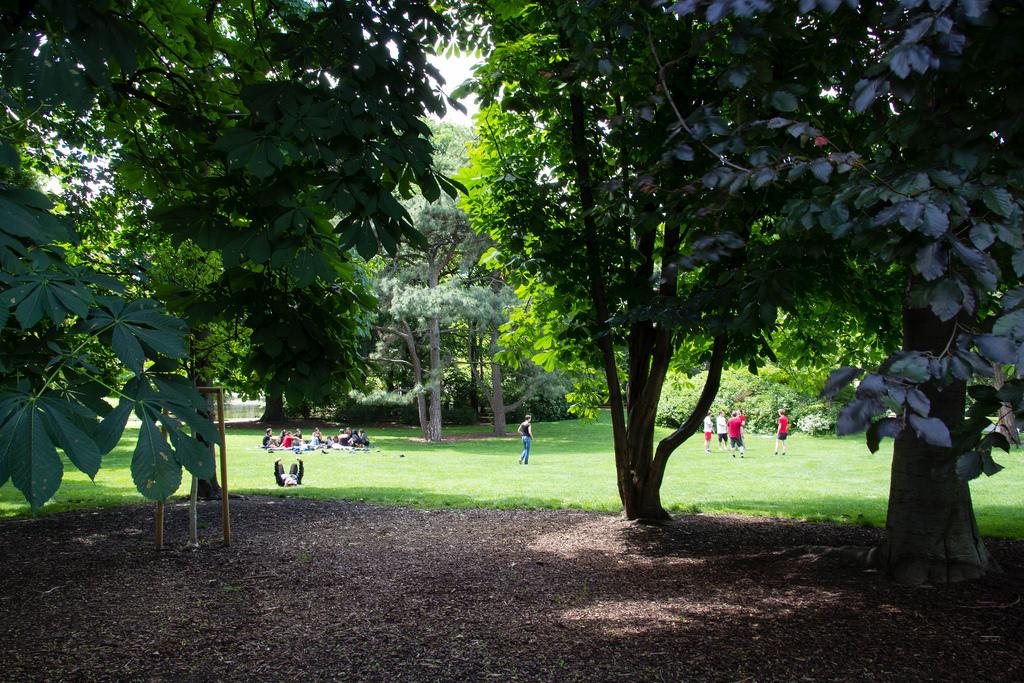 Petite pause dans un parc viennois.