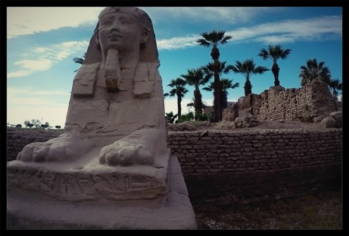 Hundreds of mini sphinx statues line the 'Sphinx Alley' in Luxor