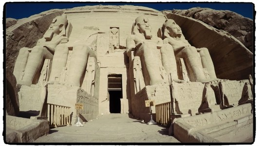 Abu Simbel Temple in southern Egypt, near the Sudanese border/