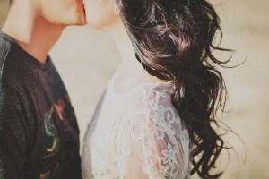 young couple, couple, kiss