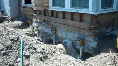 Foundation lift in San Carlos