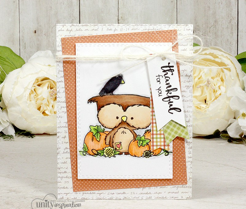 Thankful for You Fall Owl Card | Unity Stamp Company