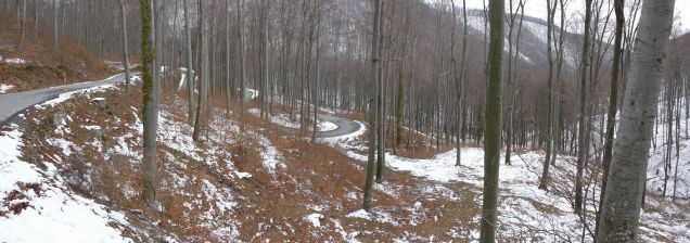 Serpentine road to Sljeme