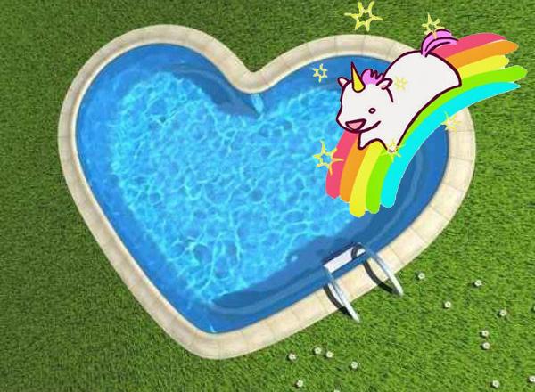 Même les licornes aiment la piscine !