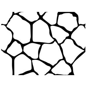 Flagstone Stencil Pattern