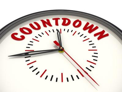 Countdown. Часы с надписью
